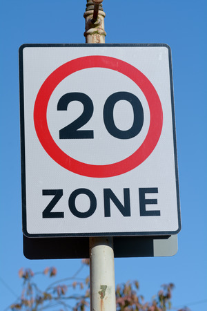 20mph Speed Limit Zone sign