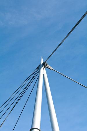 deatil: Suspension bridge details Stock Photo