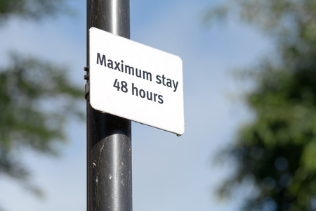 maximum: Maximum stay 48 hours sign