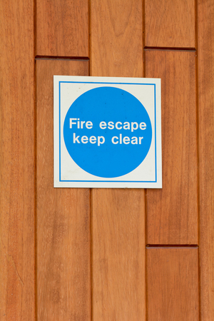 fire escape: Fire Escape sign Stock Photo