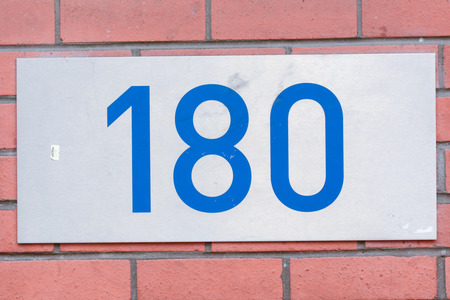 inform information: House number 180 sign