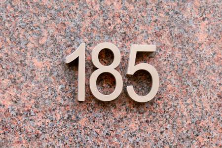 inform information: House number 185 sign