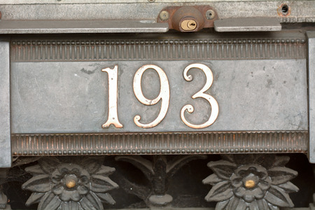 inform information: House number 193 sign