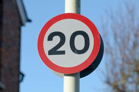 mph: 20 mph speed limit sign