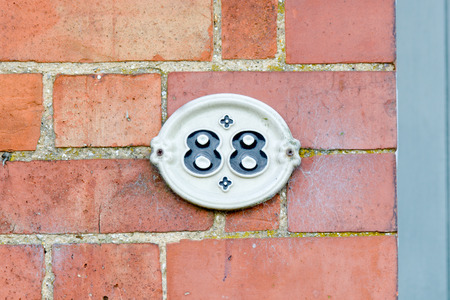 inform information: House number 88 sign Stock Photo