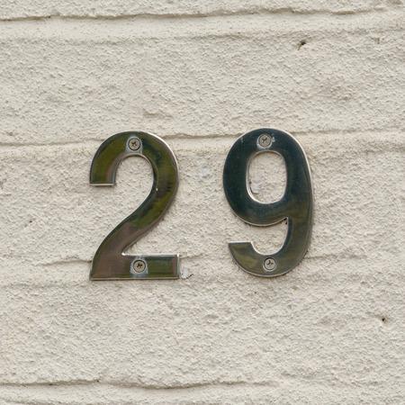 inform information: House number 29 sign