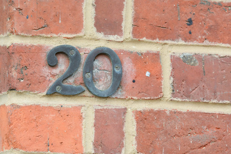 20: House number 20 sign Stock Photo