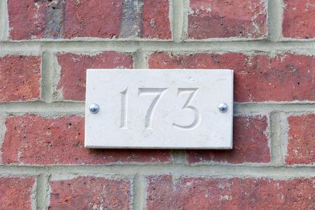 inform information: House number 173 sign