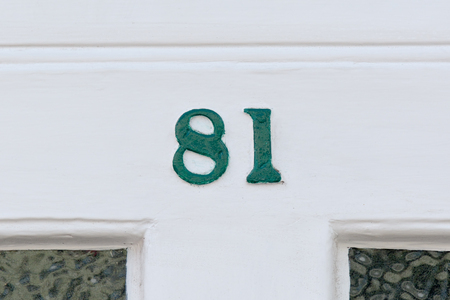 inform information: House number 81 sign