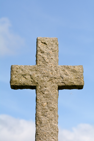 Christian cross grave stone
