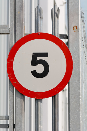 mph: 5 mph speed limit sign