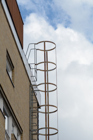 fire escape: Metal ladder fire escape