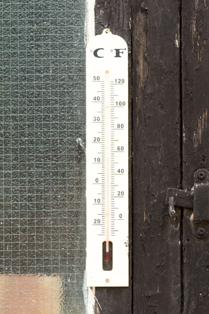 celcius: Thermometer with Fahrenheit and Celcius scales