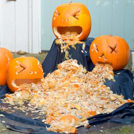 insides: Halloween carved pumpkins - being sick