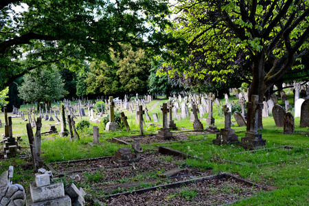 tombstones: Graveyard in England Stock Photo