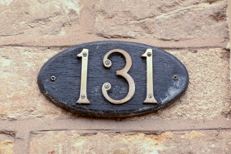 House number 131 sign
