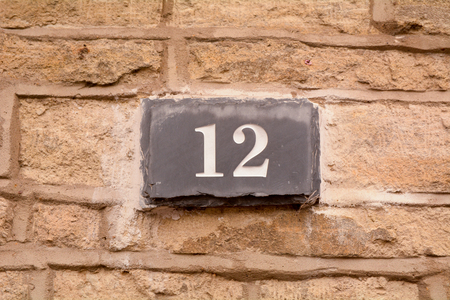 House number 12 sign