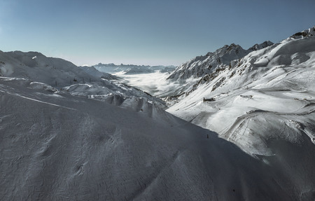 wintersport: Shot of the alps in winter Stock Photo