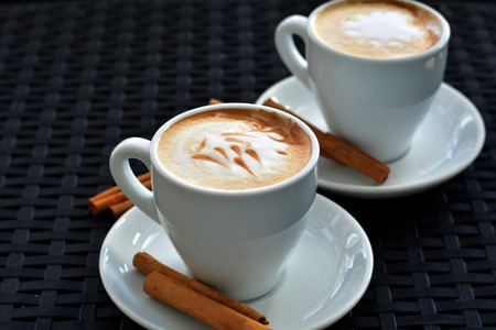 foamy: Delicious foamy cappuccino on the black background