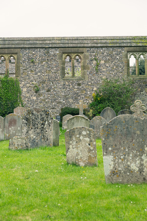 west sussex: a cemetery in West Sussex, England