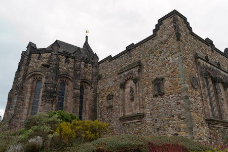 long weekend: Edinburgh Scotland  circa March 2013: A view from the exterior of Edinburgh Castle on a cloudy day