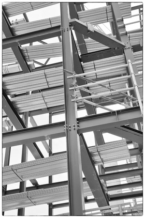 framing: A construction site with steel framing