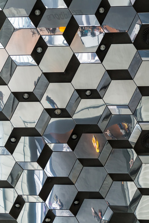 inventive: Reykjavik, Iceland, May 2014: An interior view of the Harpa Concert Hall and Conference Centre
