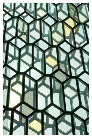 grandiose: Reykjavik, Iceland, May 2014: An exterior view of the Harpa Concert Hall and Conference Centre