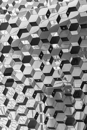 grandiose: Reykjavik, Iceland, May 2014: An interior view of the Harpa Concert Hall and Conference Centre