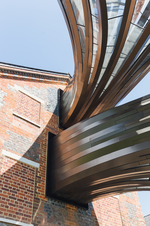 paper mill: Laverstoke Mill, England - May 2015: Photo captured of the Bombay Sapphire Distillery, the re-development of the 300 year old paper Mill Editorial