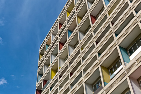 BERLIN, GERMANY - JULY 2014: The Corbusier Haus was designed by Le Corbusier in 1957 following his concept of Unite dHabitation (Housing Unit)