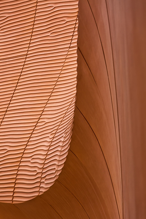 life partners: MILAN, ITALY - September 2015: Architectural detail of United Arab Emirates pavilion at World Expo, universal exposition on the theme of Feeding the Planet Energy for Life. Pavilion designed by Fosters and Partners