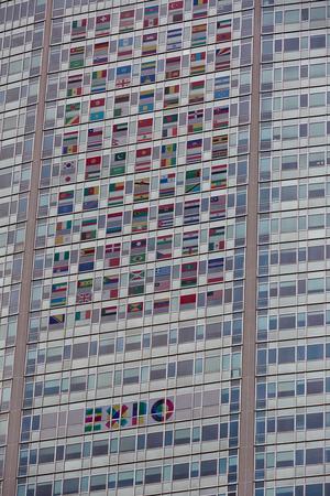 MILAN, ITALY - September 2016: Pirellone, historical Pirelli skyscraper, Piazza Duca DAosta, ex Regione Lombardia headquarter, promotion of Expo 2015. Desigend by Architects Gio Ponti and Pierluigi Nervi