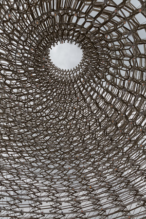 wolfgang: MILAN, ITALY - September 2015: United Kingdom pavilion at Expo 2015. The theme of the Universal Exposition is Feeding the Planet, Energy for Life. Designed by Artist Wolfgang Buttress Stock Photo
