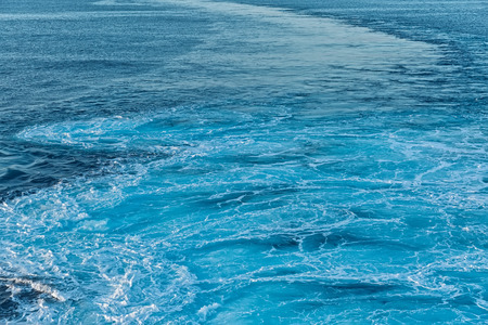 Blue abstract wave ocean water background Stock Photo