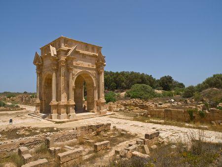 lybia: Gate in Laptis Magna