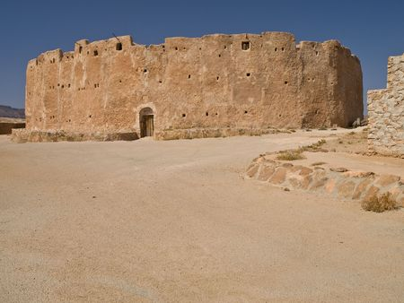 lybia: Image of the medieval berberian silo in lybian Jebel Nafusa