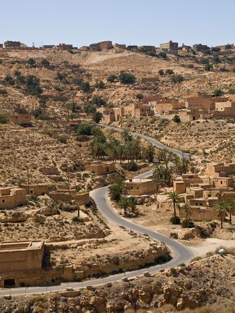 lybia: Road in Lybia.... Stock Photo
