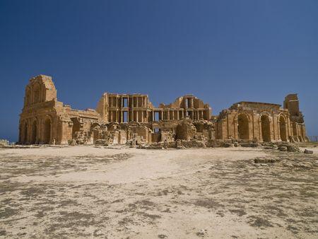lybia: Antic theatre in lybian Sabrata
