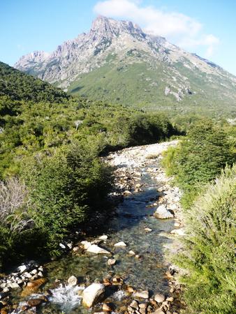 Landscape at Nahuel Huapi traverse trek Stock Photo
