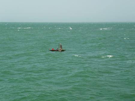 Small boat on Atlantic ocean, Gambia