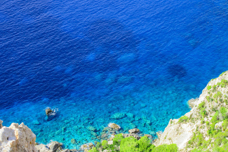 Amazing lookout at Keri cape, Zakynthos Stock Photo