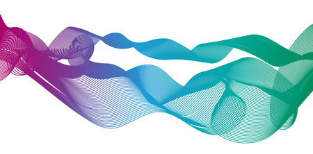 Colorful gradient light waves line bright abstract pattern illustration