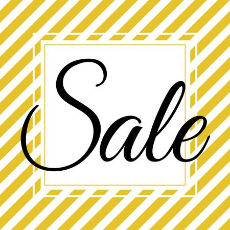 Sale on white and gold white background vector illustration.