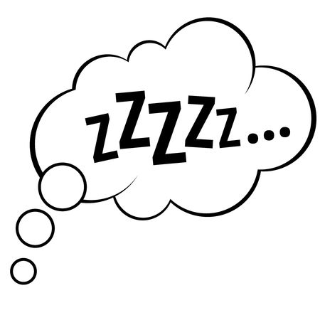 Sleep comic bubble zzzzz vector illustration