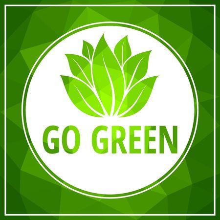 Ga groen pictogram groen blad vector illustratie geïsoleerd op wit Vector Illustratie