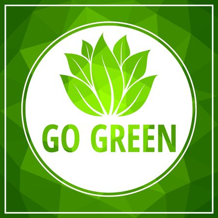 Go green icon green leaf vector illustration isolated on white