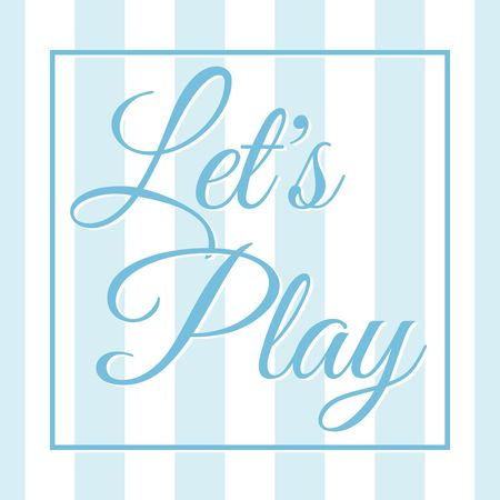 Let's play banner vector illustration Stock Illustratie