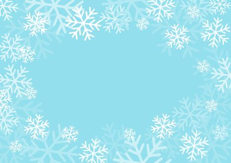 Winter card with snowflakes. Vector paper illustration. Zdjęcie Seryjne - 97575246