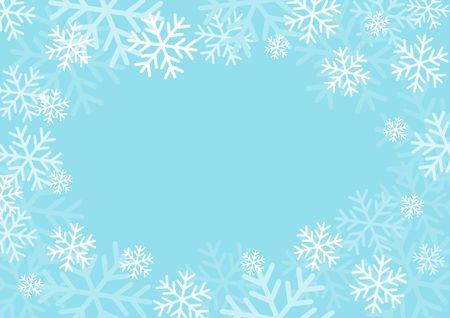Zimowa karta z płatkami śniegu. Ilustracja wektorowa papieru. Ilustracje wektorowe